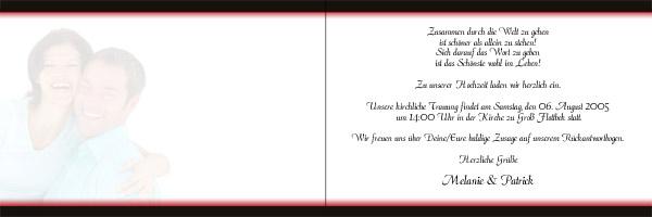 ... Menuekarten und Tischkarten mit Ihrem Wunschfoto und Ihrem Wunschtext
